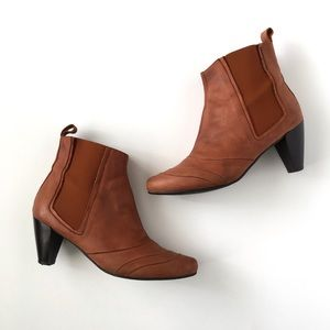 Anthropologie Eric Michael Brown Leather Booties